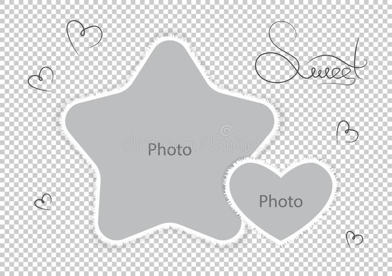 Embroma las fotos asombrosas del favorito de los montajes de la plantilla de los marcos de la foto stock de ilustración