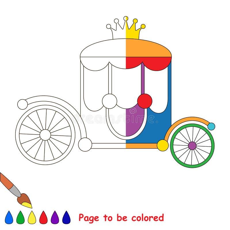 Embrome el juego que se coloreará por ejemplo medio libre illustration