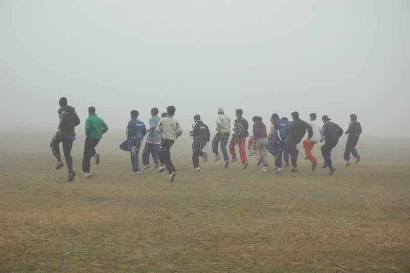 Embrumez dans Kolkata photo libre de droits