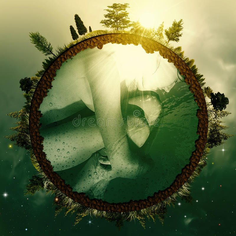 Embryo Earth. stock photo