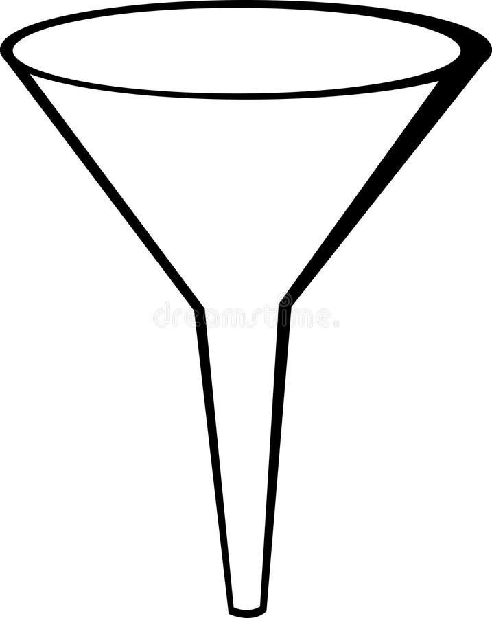 Embudo ilustración del vector