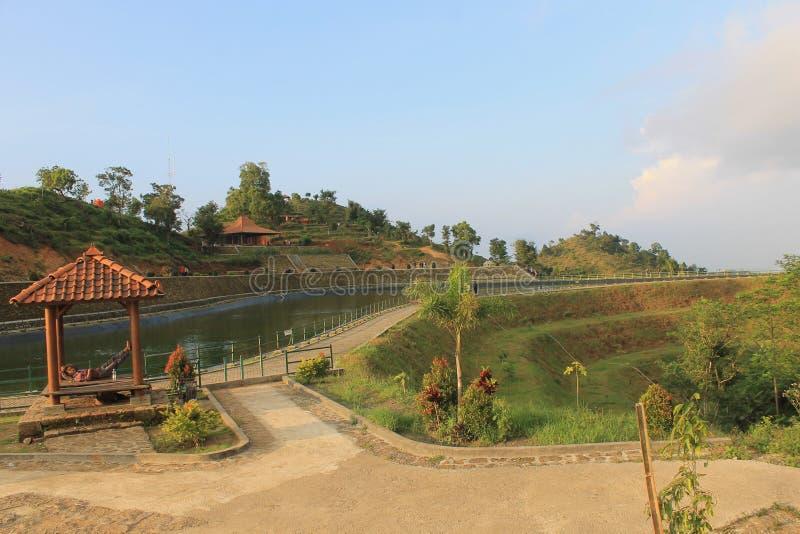 Embung Sriten. Daerah Istimewa Yogyakarta, Indonesia royalty free stock images