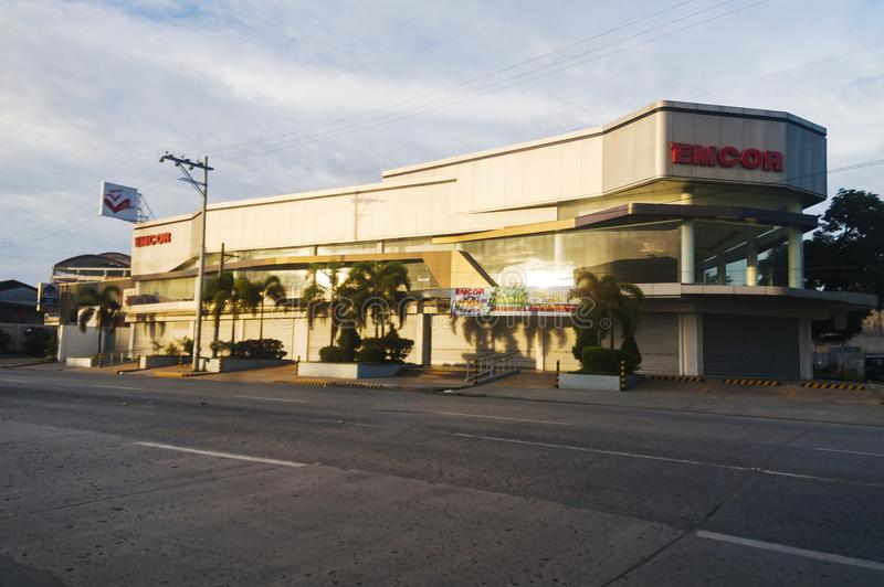 Emcor branch along Cabaguio Avenue in Davao, Philippines. Emcor is on of the leading appliance and motorcycle dealers of the City stock photos