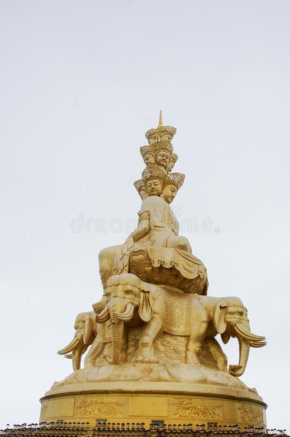 Emei-Berg in Sichuan, Chinas Golden Dome stockfotografie