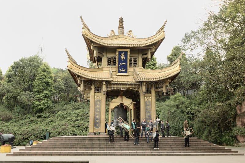 Emei China- primeiro Shanting imagens de stock royalty free