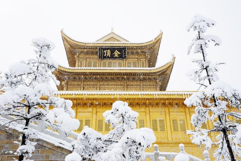 emei jinding mt świątynię fotografia royalty free