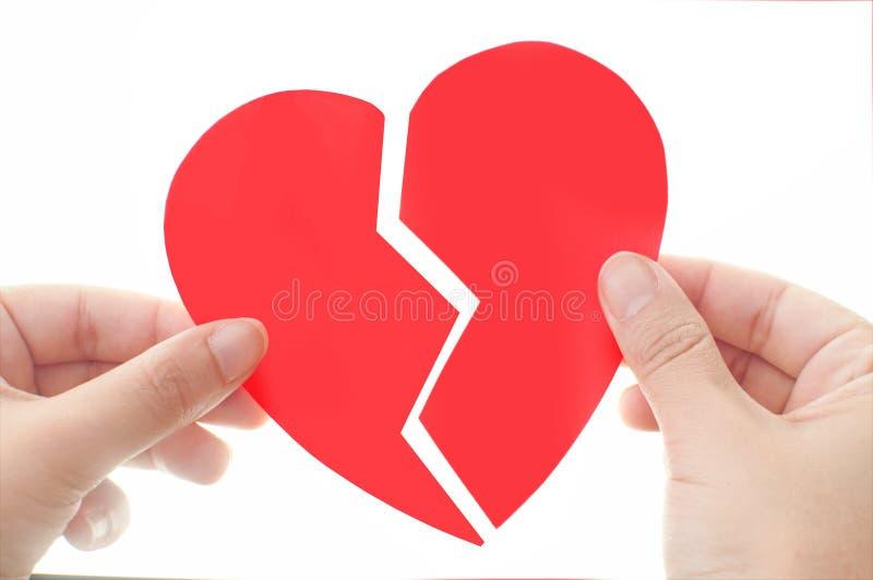 Emende um coração quebrado imagens de stock