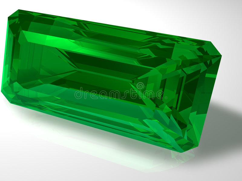 Emerald stock illustration