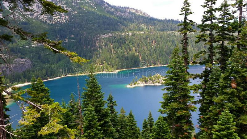 Emerald bay in all its glory stock photography