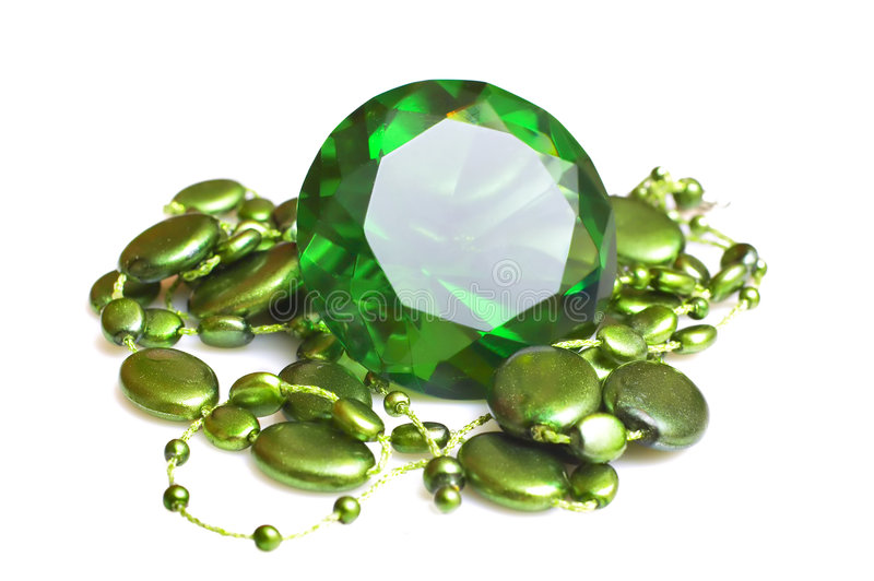 Emerald And Beeds Stock Images