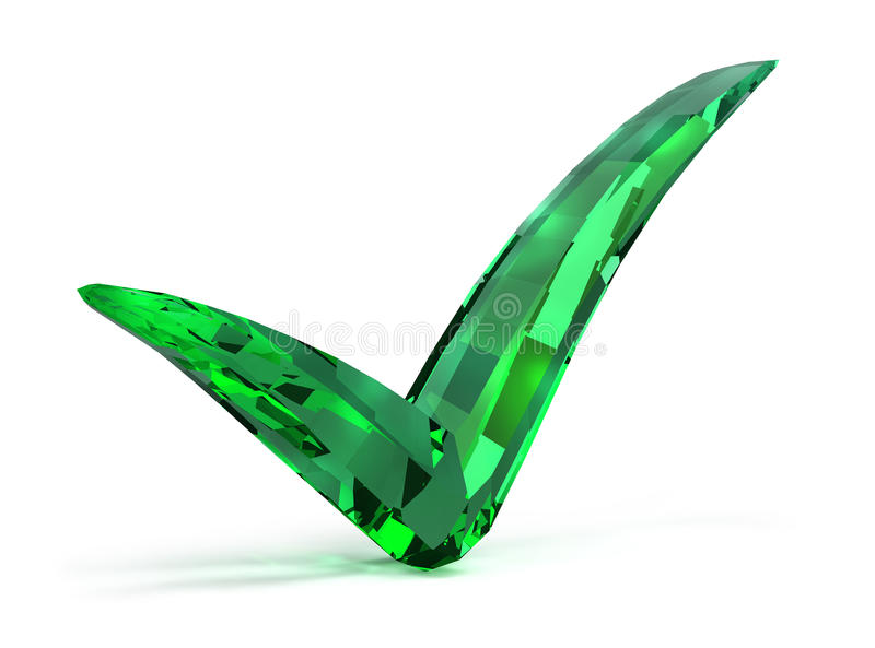 Emerald checked stock illustration