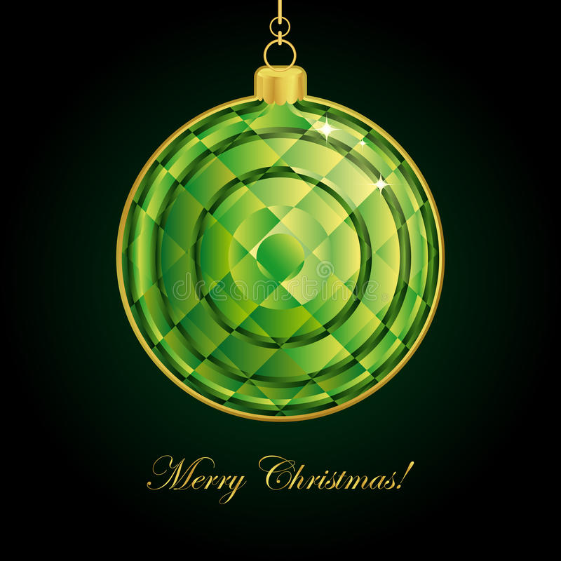 Download Emerald Christmas ball. stock vector. Image of merry - 16595287