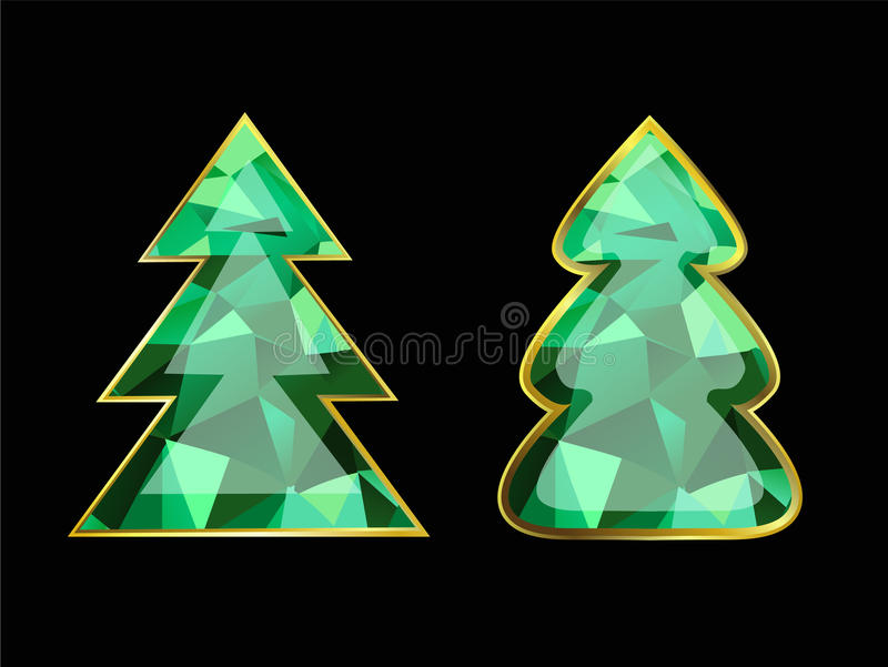 Emerald Christmas Tree illustration stock