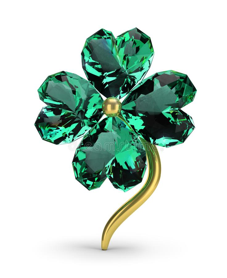 Emerald clover vector illustration