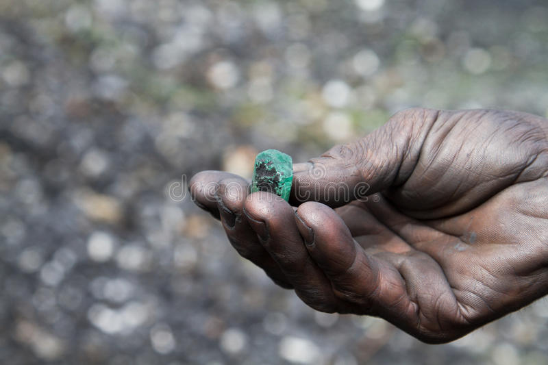 Emerald, Colombia. Emerald found in Muzo, Colombia royalty free stock image