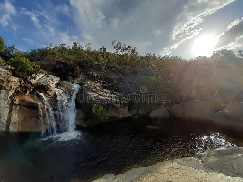 Emerald Creek Australie chute Nature images stock