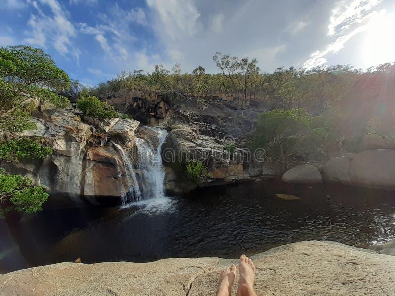 Emerald Creek brengt Australië rusten royalty-vrije stock afbeeldingen