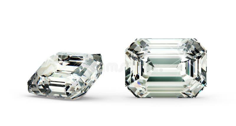 Emerald Cut Diamond vector illustration
