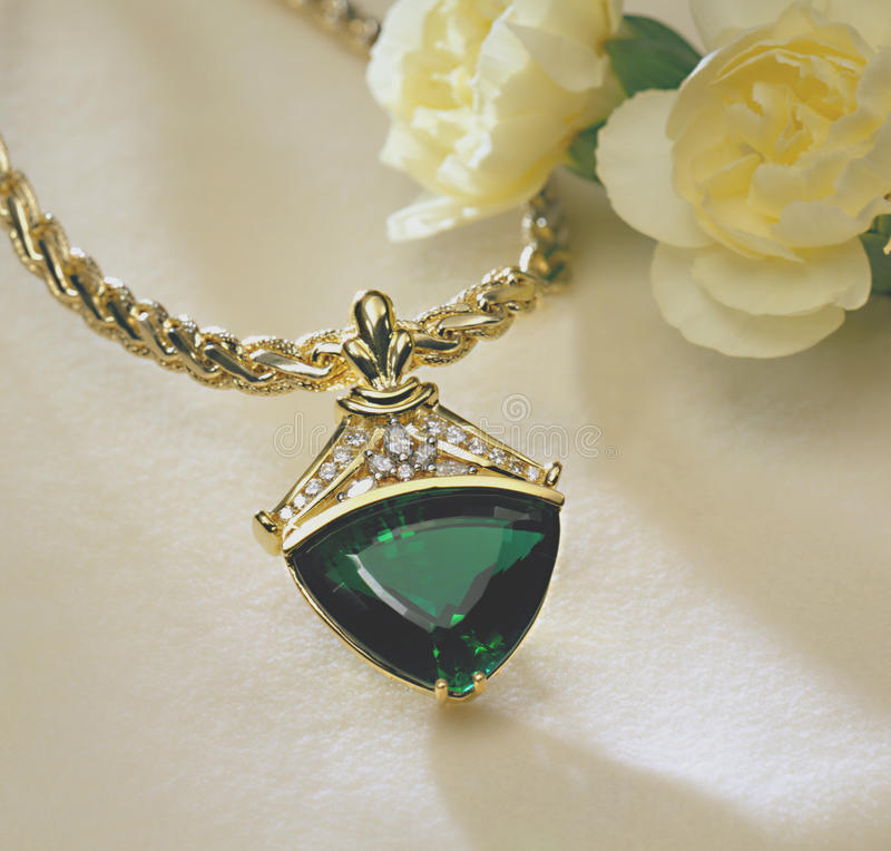 Download Emerald And Diamond Pendant Stock Photo - Image: 11813548