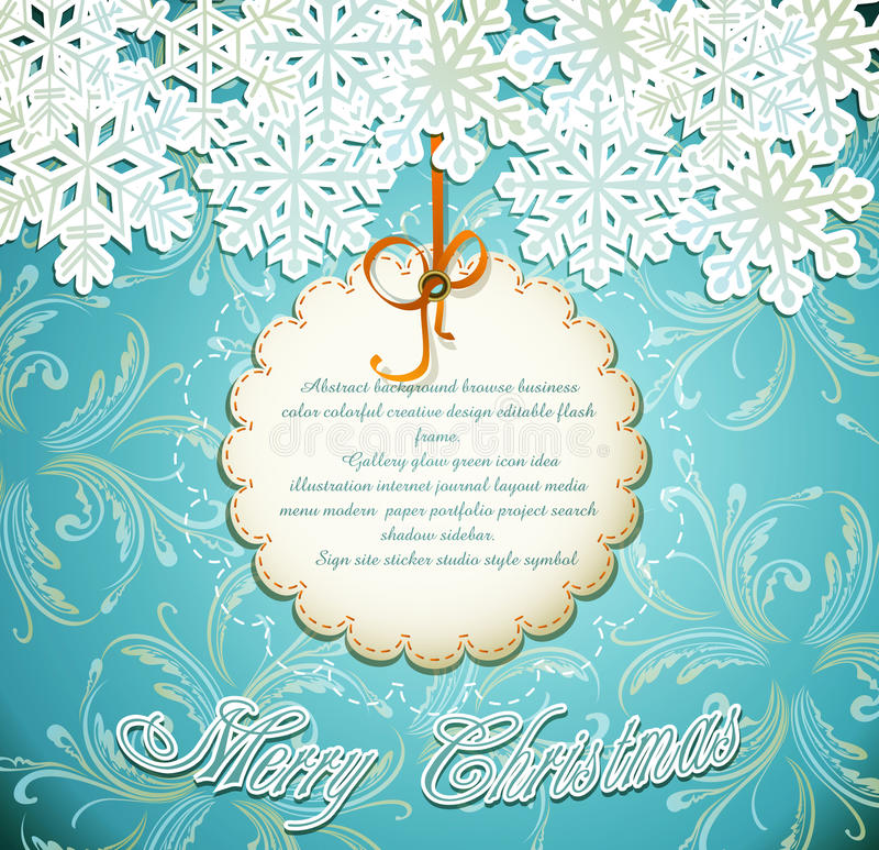 Download Emerald Festive Background With Snowflakes Stock Vector - Image: 20825162