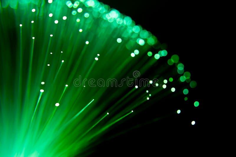 Emerald fibre optic burst. royalty free stock image