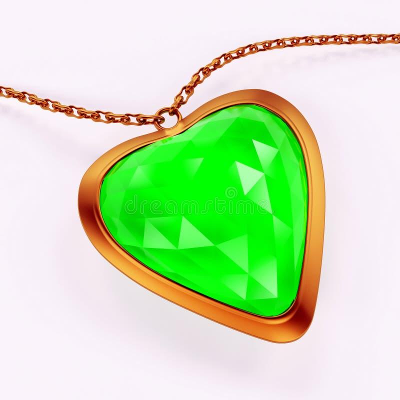 Emerald gems royalty free illustration