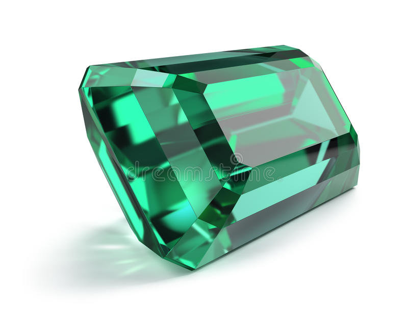 Emerald royalty free illustration
