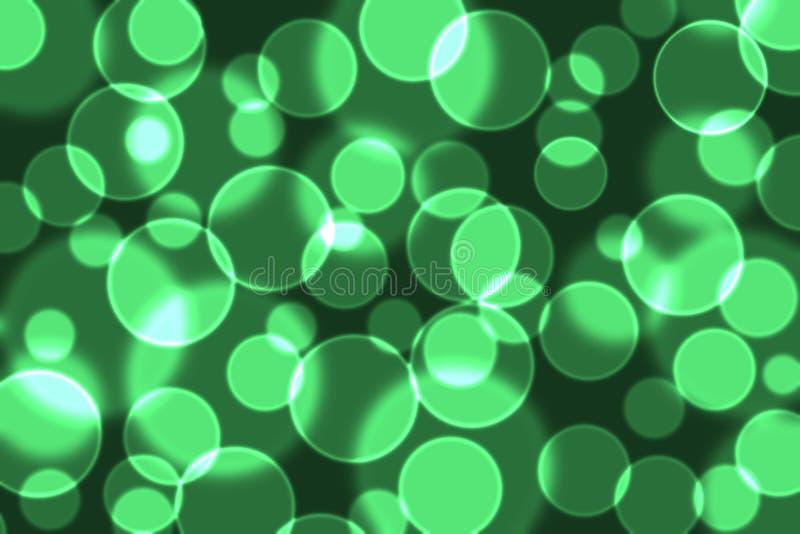 Emerald green bokeh stock photography