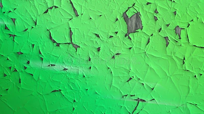 Emerald Green Grunge Cracked Texture ilustração do vetor