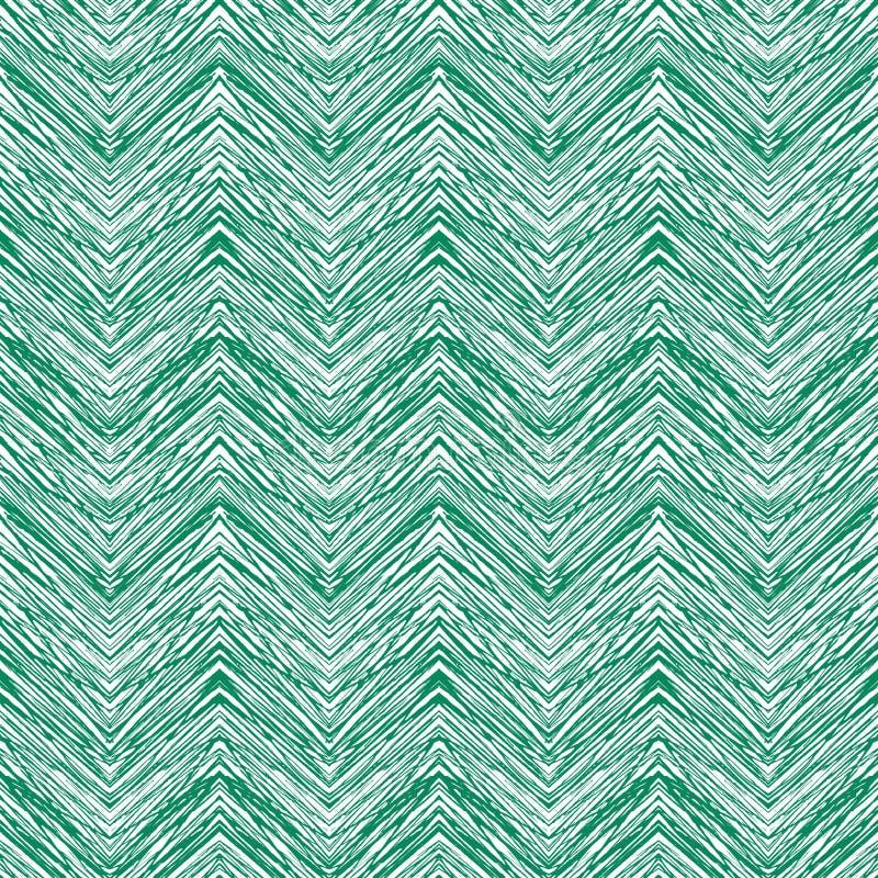Emerald green hand drawn vector zigzag pattern vector illustration