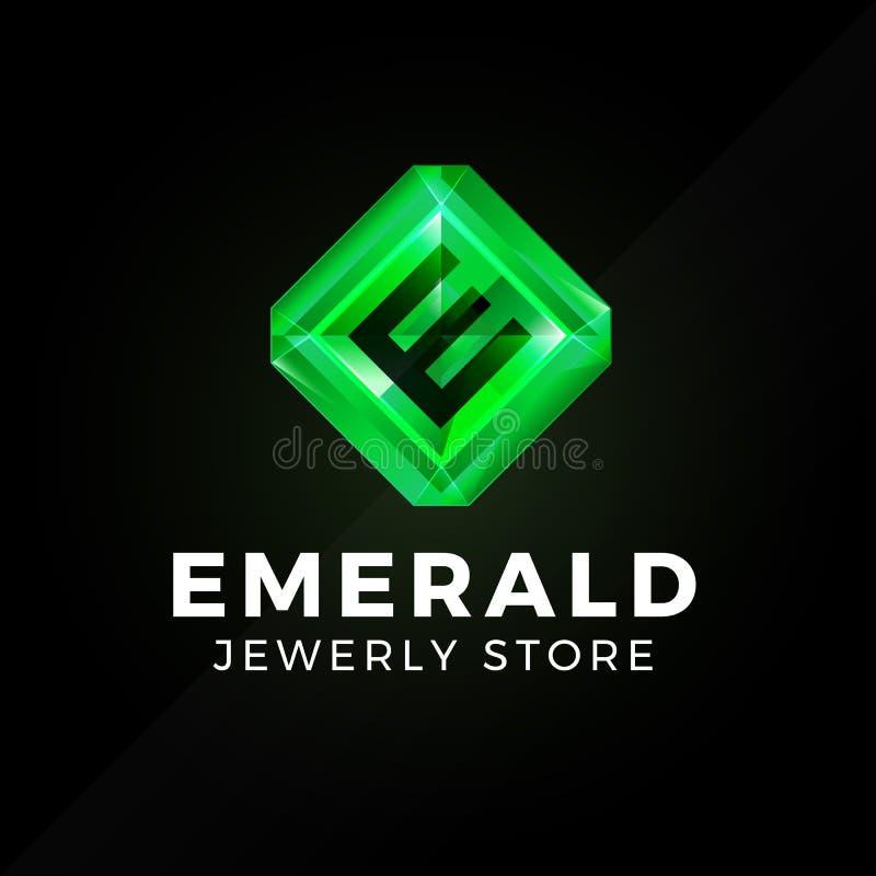 Emerald Green Logo stock illustrationer