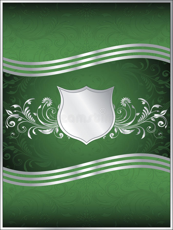Emerald Green Vector Background Template vector illustration
