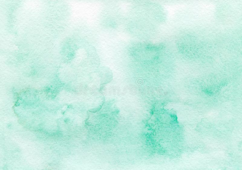 Emerald green watercolor background painted by hand royalty free stock photos
