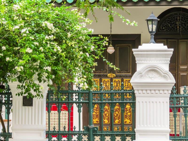Emerald Hill é área da conservação, Singapura imagem de stock