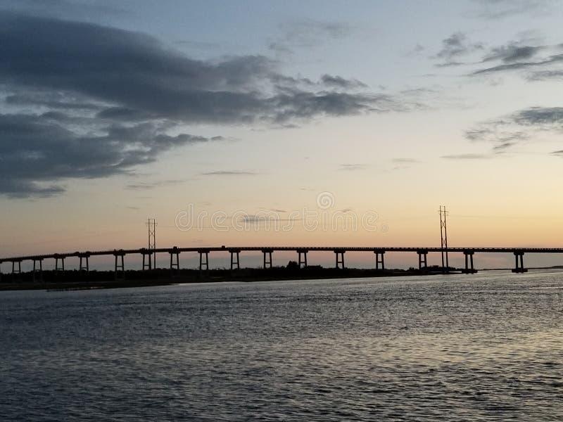 Emerald Isle North Carolina Sunset imagem de stock royalty free