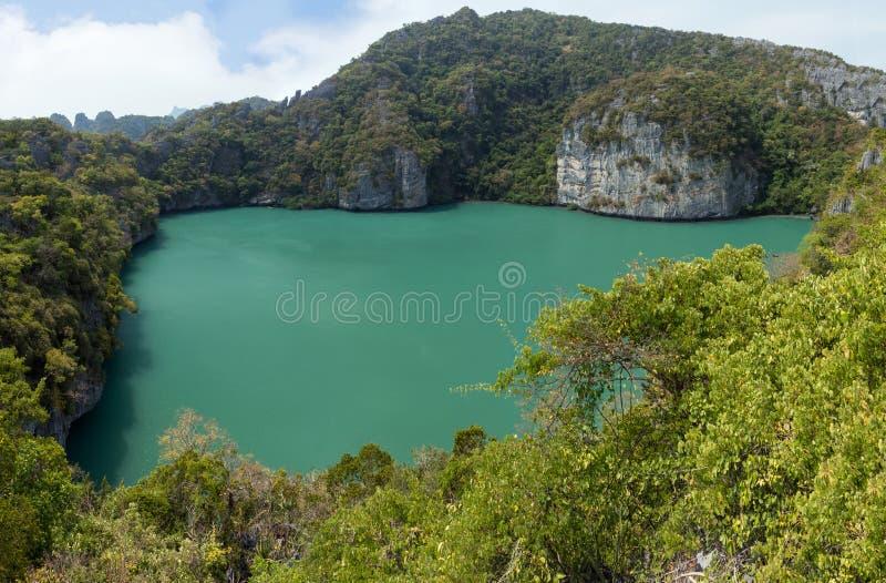 Emerald Lake at the Ang Thong National Marine Park royalty free stock image