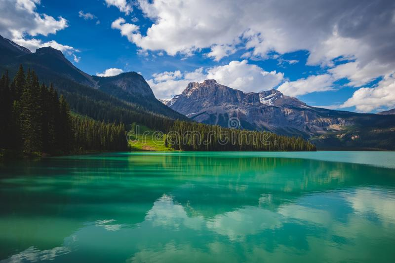 Emerald Lake Reflections royalty free stock photo