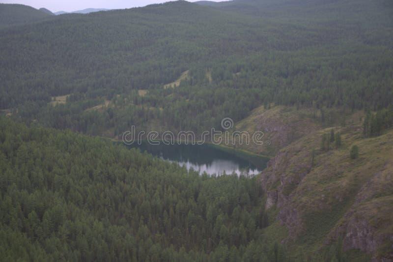 Emerald Lake, the Republic of Gorny Altai, southern Siberia. Emerald Lake, Ulagan Pass, the Republic of Gorny Altai, southern Siberia stock photo