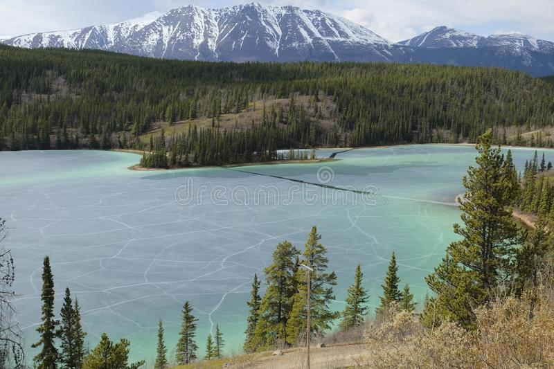 The Emerald lake in Canada royalty free stock photo