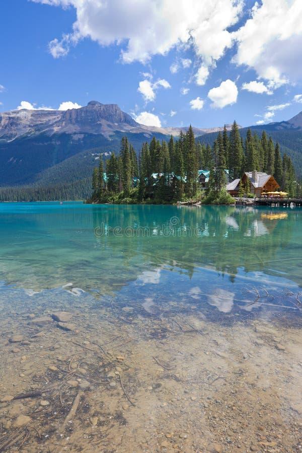Emerald Lake, Yoho National Park, AVANT JÉSUS CHRIST images stock
