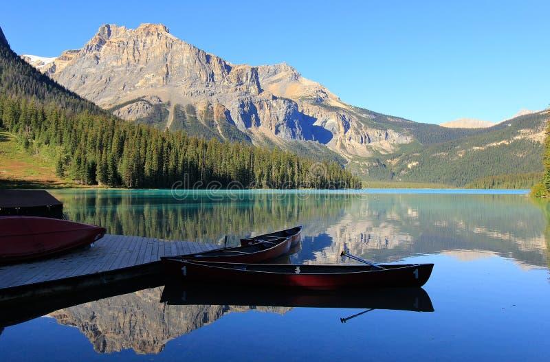 Emerald Lake, Yoho National Park, Britisch-Columbia, Kanada lizenzfreies stockfoto