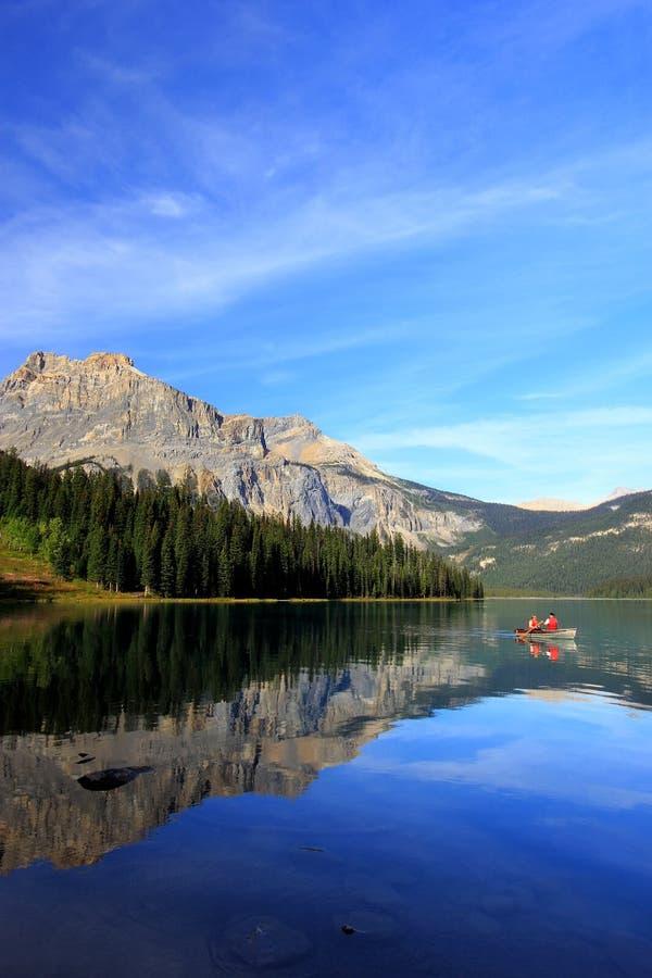 Emerald Lake, Yoho National Park, Colombie-Britannique, Canada image libre de droits