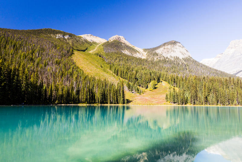Emerald Lake, Yoho National Park, Colombie-Britannique, Canada photos stock