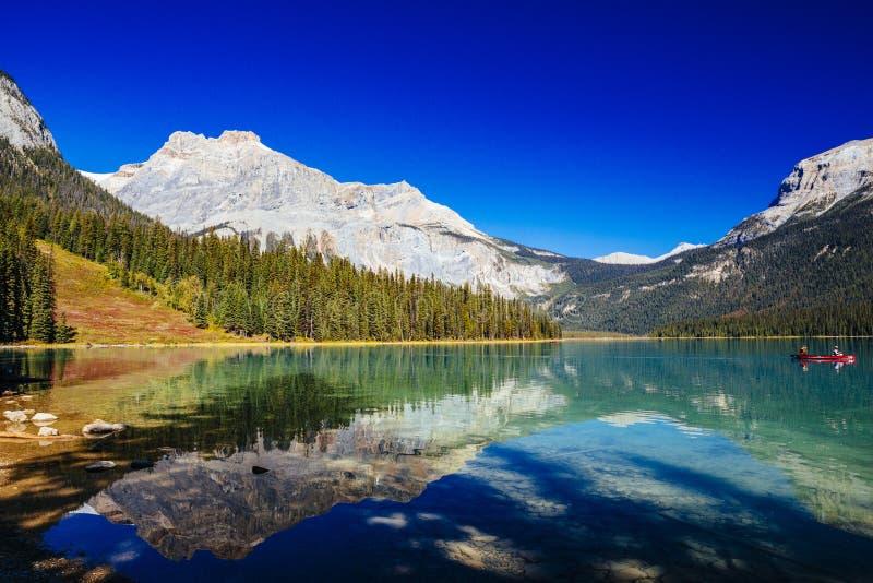 Emerald Lake, Yoho National Park, Colombie-Britannique, Canada photographie stock libre de droits