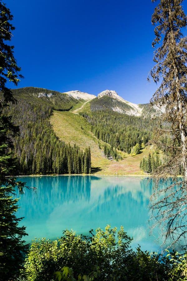 Emerald Lake, Yoho National Park, Colombie-Britannique, Canada images libres de droits