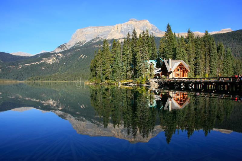 Emerald Lake, Yoho National Park, Columbia Britânica, Canadá foto de stock royalty free