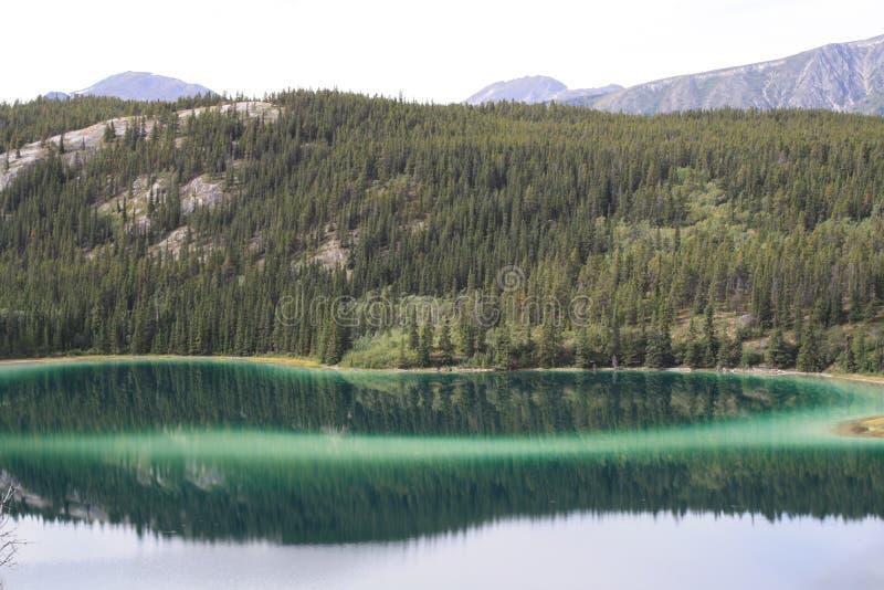 Emerald Lake. In the Yukon stock photos