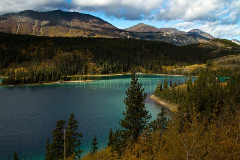 Emerald Lake Yukon territorier, Kanada royaltyfria bilder