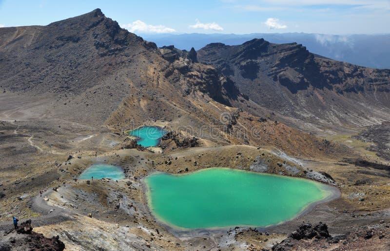 Emerald Lakes Tongariro stock foto