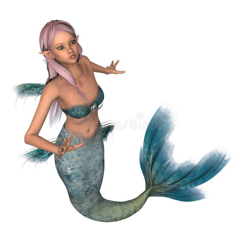 Emerald Mermaid ilustración del vector